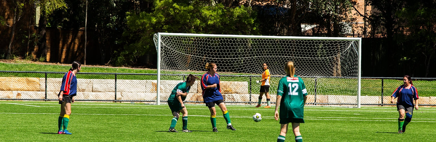Welcome to Strathfield Council - Girls playing soccer